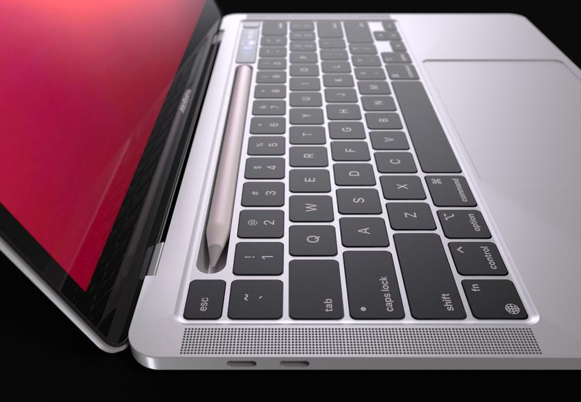 Дизайнер показал рендеры первого MacBook Pro с док-станцией для стилуса Apple Pencil