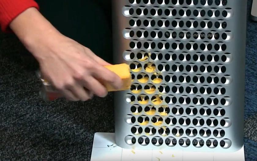 Разрушители легенд: в iFixit проверили, годится ли новый Mac Pro за $6 тыс в качестве тёрки для сыра