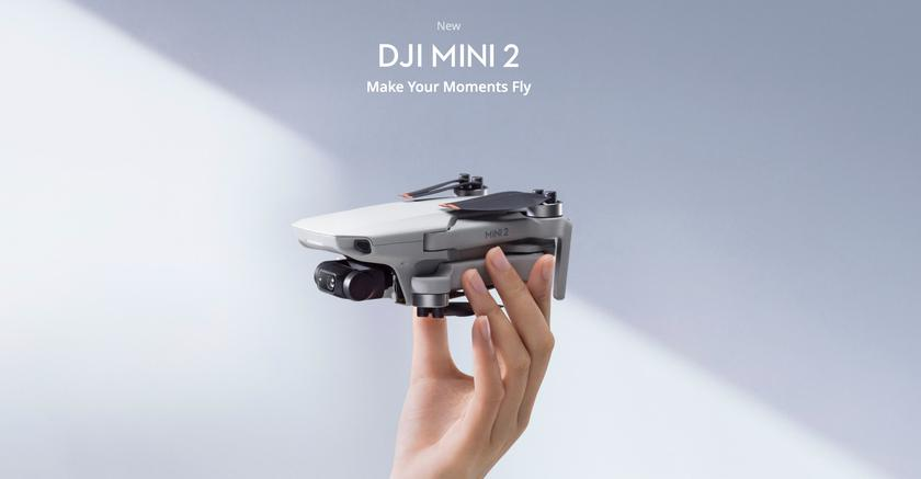 DJI Mini 2: дальность полётов до 10 км, улучшенная камера с поддержкой 4K-видео и ценник в $449