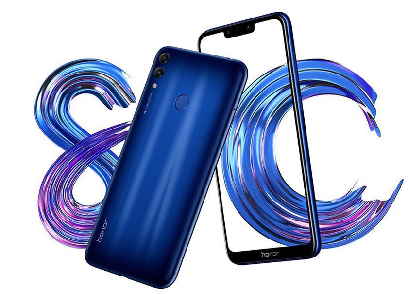 Представлен бюджетный смартфон Honor 8C с чипом Snapdragon 632