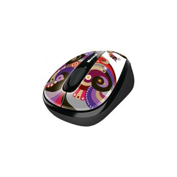 Microsoft Wireless Mobile Mouse 3500 Artist Edition Chamarelli Black-Blue USB