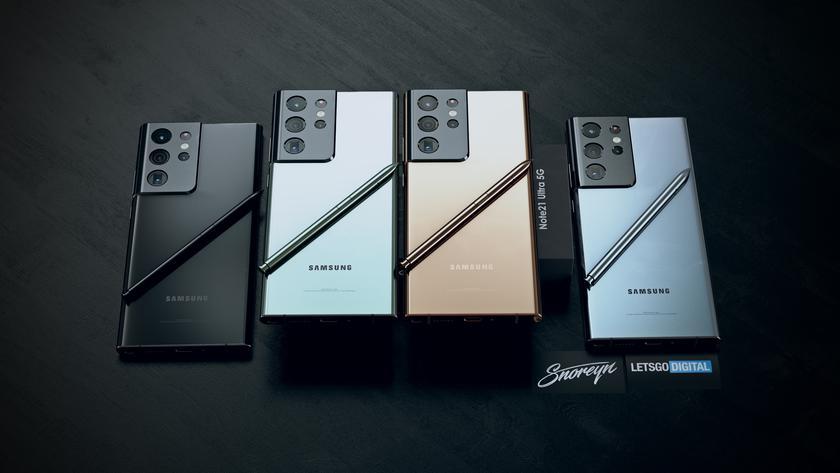 Samsung Galaxy Note 21 Ultra на первых рендерах: знакомая камера и фирменный стилус S Pen в комплекте
