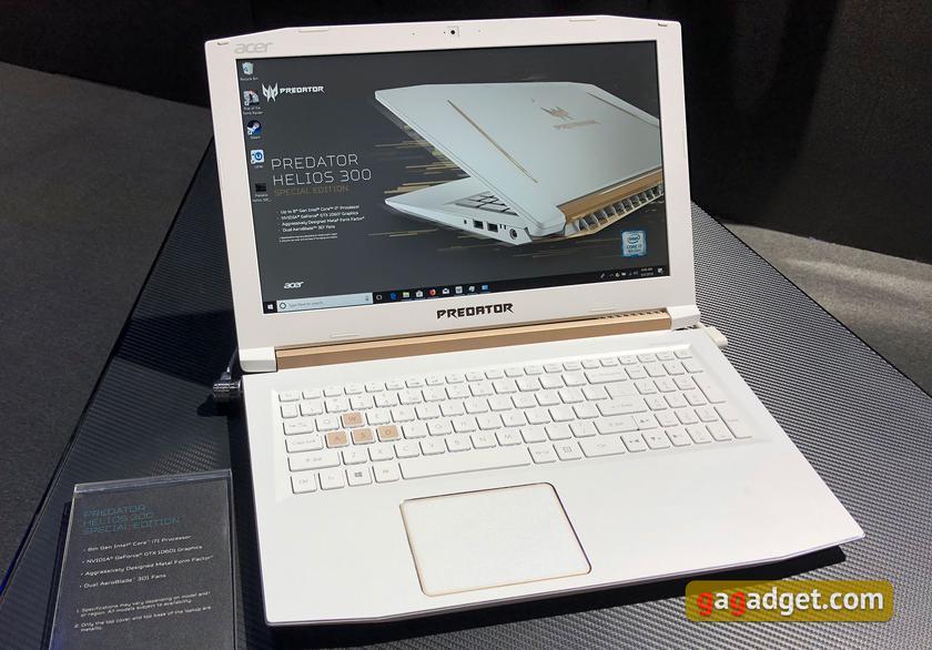 Computex 2018: новые игровые ноутбуки и системные блоки Acer своими глазами