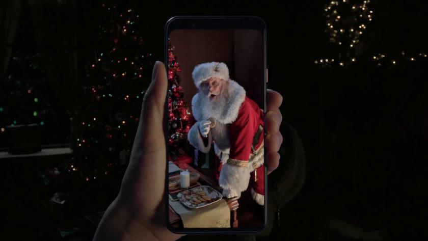Google ловит Санту «на горячем» в рождественской рекламе Pixel 4