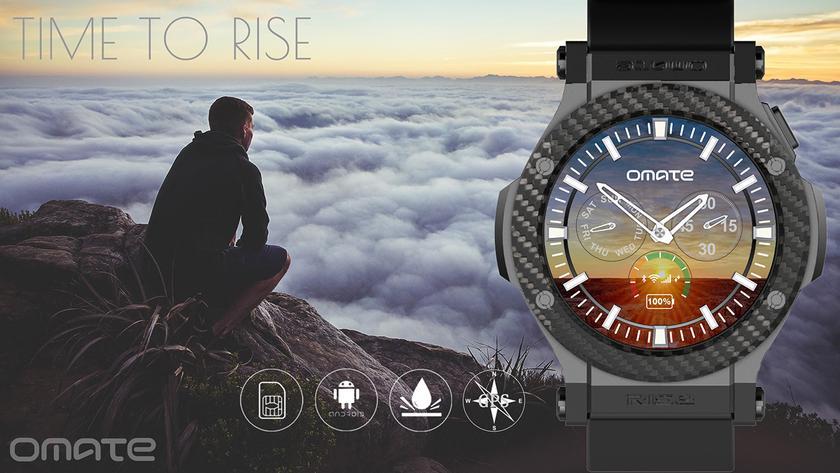 """Omate Rise: """"умные"""" часы с круглым экраном, Android 5.1 и 3G"""