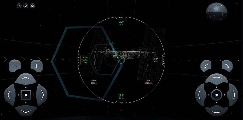 Компания Илона Маска SpaceX создала онлайн симулятор стыковки с космической станцией