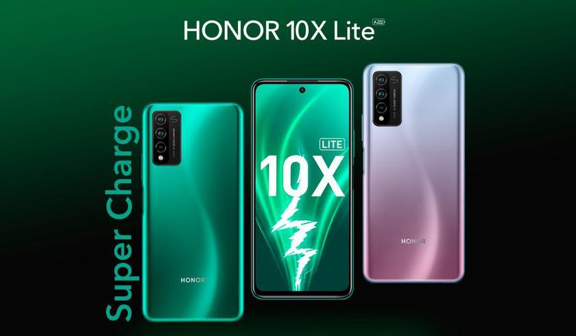 Honor 10X Lite: процессор Kirin 710, аккумулятор на 5000 мАч, NFC и квадрокамера за $210
