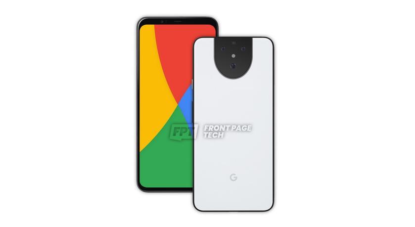 Google Pixel 5 на новом рендере: белая расцветка, тройная камера и уменьшенная верхняя рамка