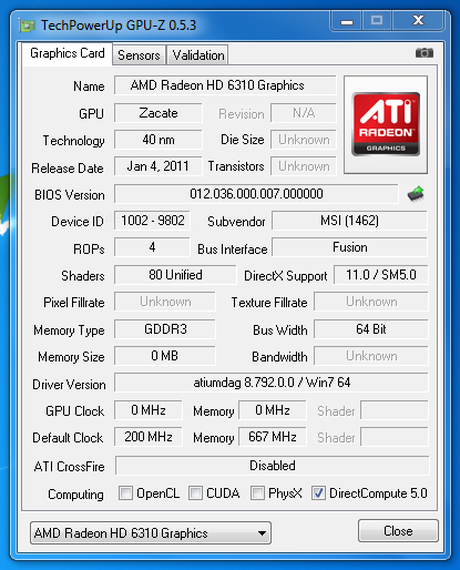 Обзор ноутбука MSI CR650 на базе процессора AMD E-350