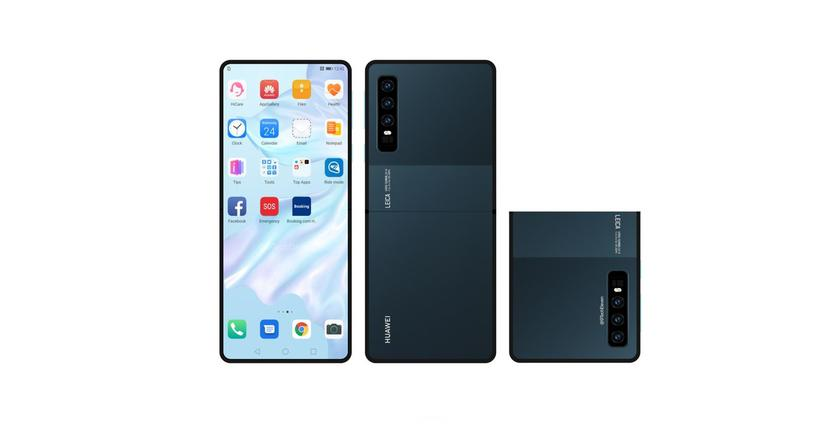 Концепт-изображения «раскладушки» Huawei: тройная камера и гибкий экран без вырезов