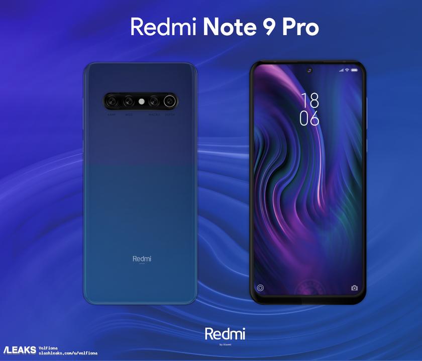 Не такой, как Note 8 Pro: в сети появились рендеры Redmi Note 9 Pro
