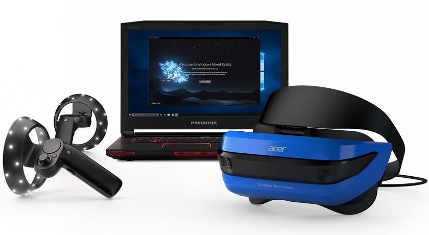 Build 2017: VR-шлемы Acer и HP для Windows Mixed Reality и контроллеры Microsoft