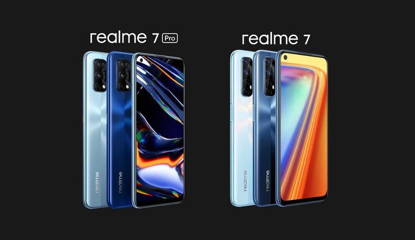 Realme представила в Европе Realme 7 и Realme 7 Pro: новинки получили NFC и цену от 180 евро