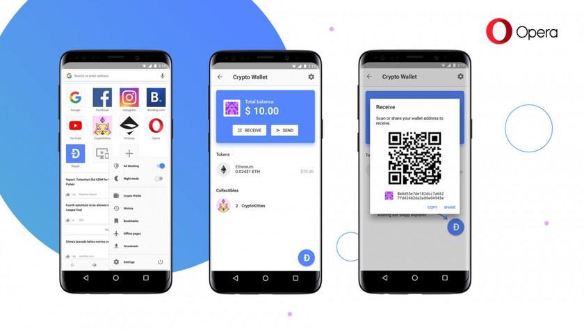 Браузер Opera для Android получил кошелек для криптовалют