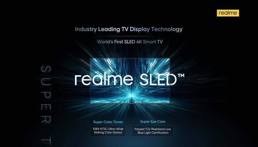 Realme анонсировала 55-дюймовый 4K-телевизор с новой технологией SLED