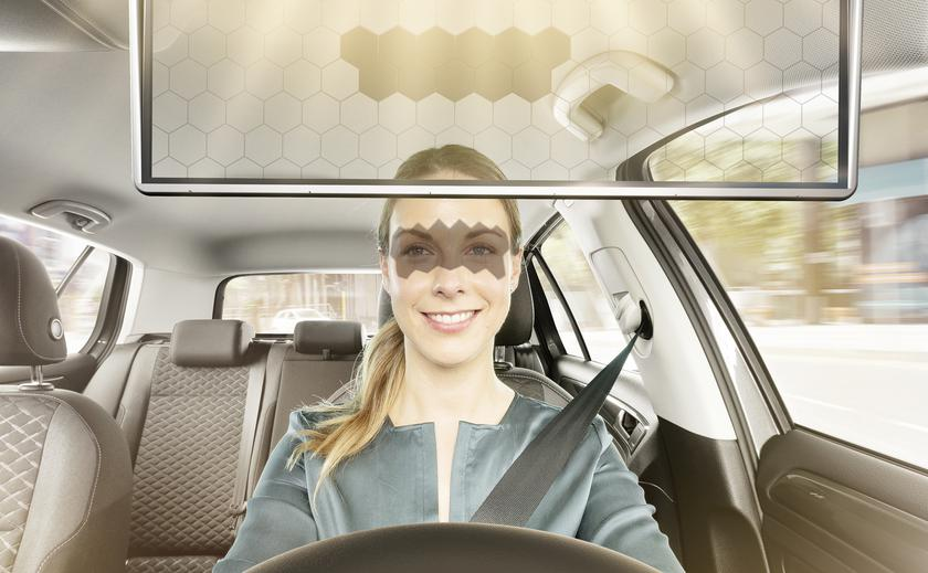 Bosch Virtual Visor: солнцезащитный козырек для водителей с прозрачным экраном и частичным затемнением, управляемым ИИ
