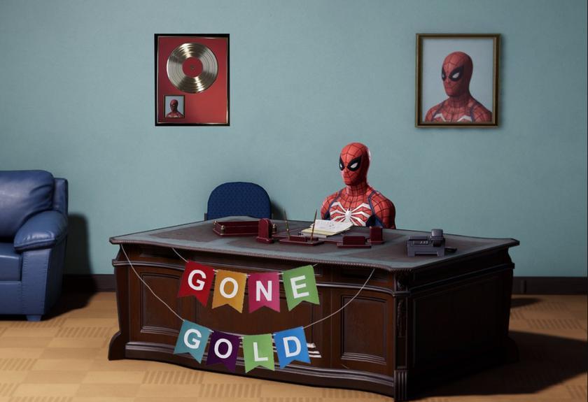 Эксклюзивный Marvel'sSpider-Man для PS4 «отправился назолото»