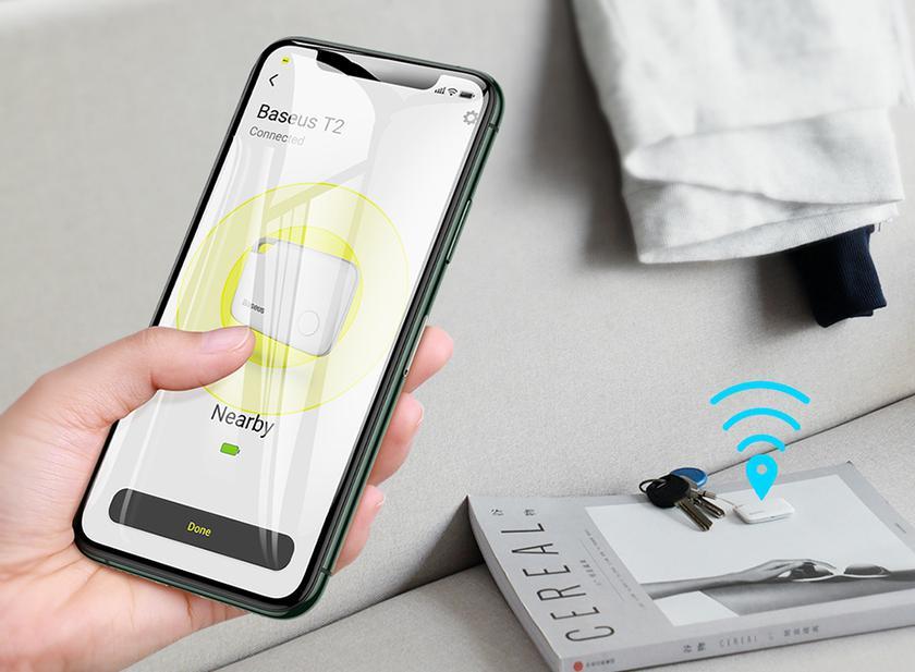 Baseus T1/T2: GPS-трекер брелок с двусторонней связью всего за $12/$9