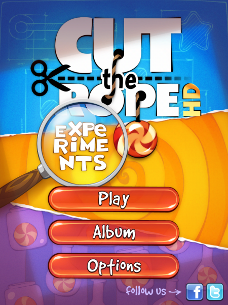 Игры для iPad. Cut the Rope: Experiments HD