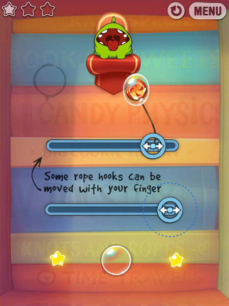 Игры для iPad. Cut the Rope: Experiments HD -3