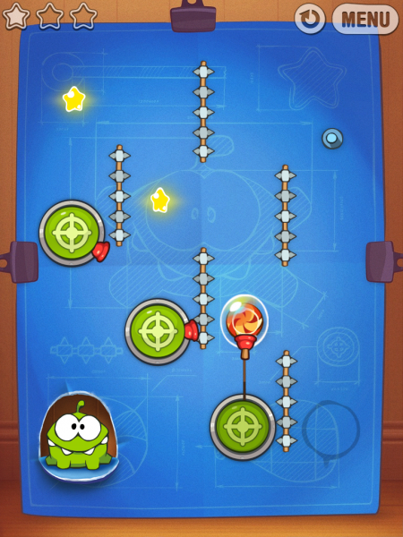 Игры для iPad. Cut the Rope: Experiments HD -5