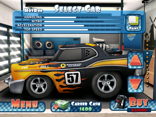 Игры для iPad: Mini Motor Racing HD -2