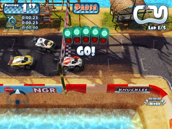 Игры для iPad: Mini Motor Racing HD -3