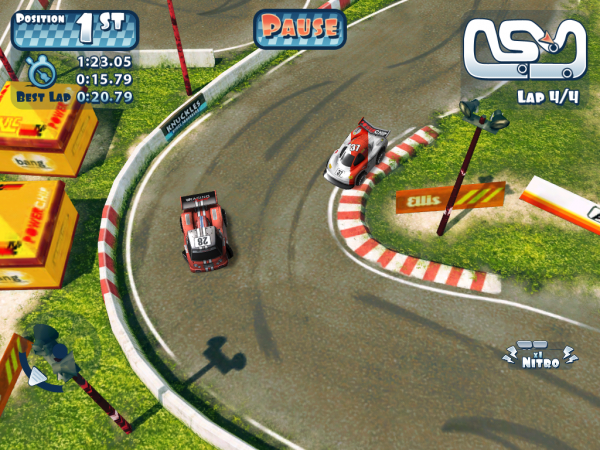Игры для iPad: Mini Motor Racing HD -4
