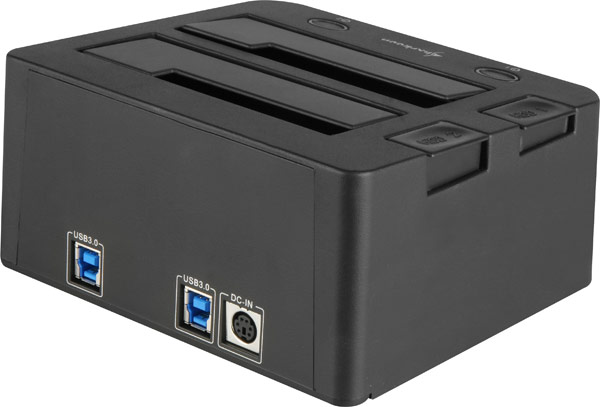 Док-станция Sharkoon SATA QuickPort Duo с поддержкой USB 3.0-3