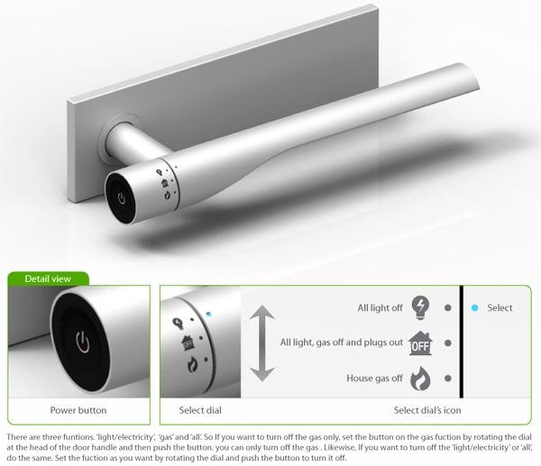 Watching Energy Saving: The Smart Doorknob Concept Off