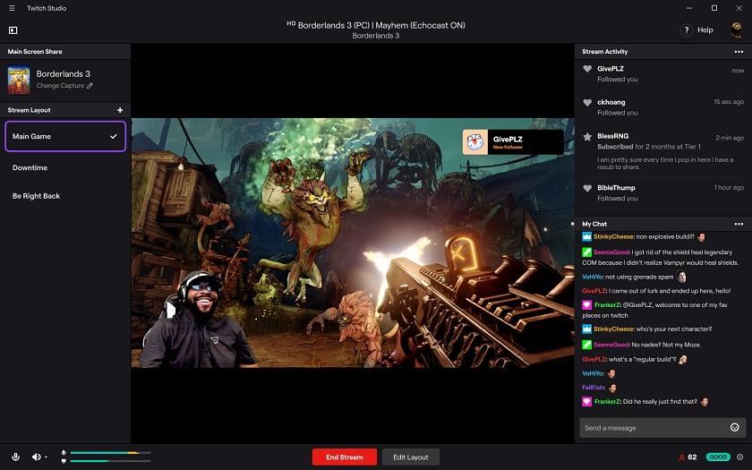 Для начинающих стримеров: Twitch выпустила приложение Twitch Studio
