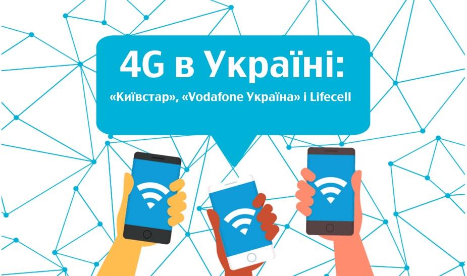Вгосударстве Украина Киевстар, Vodafone иlifecell запустили 4G в спектре 1800 МГц