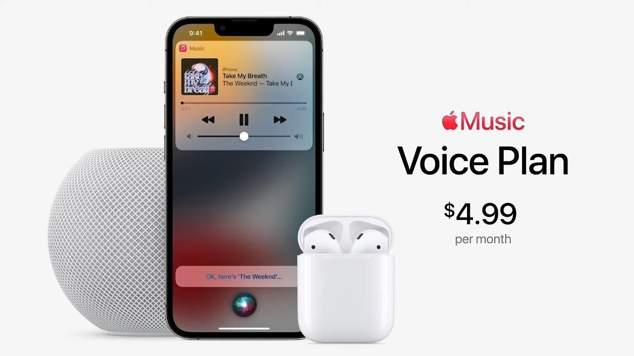 Voice Plan: новый тарифный план Apple Music за $4.99 в месяц, который позволяет управлять музыкой с помощью Siri