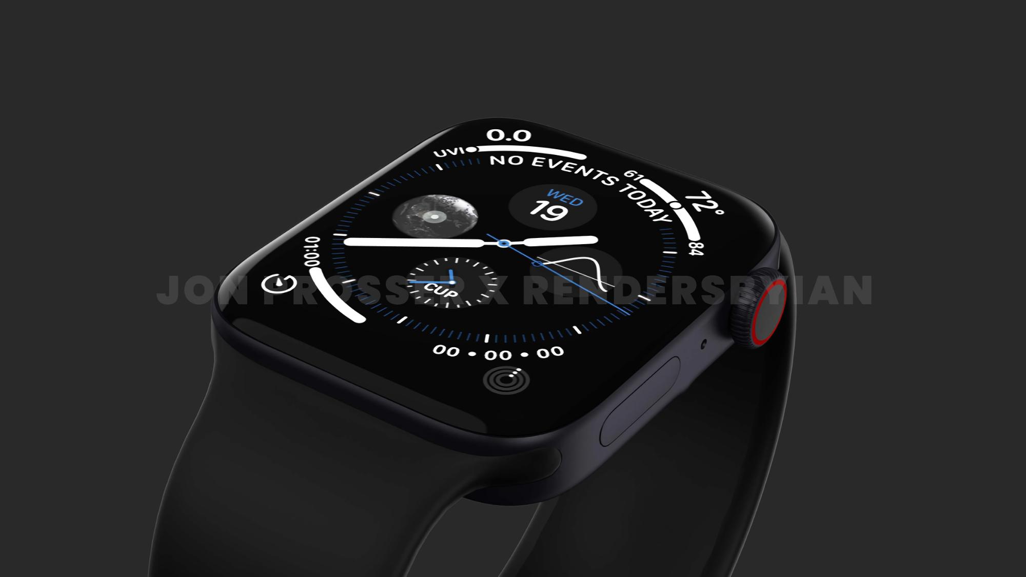 Слух: Apple увеличит размер умных часов Apple Watch Series 7