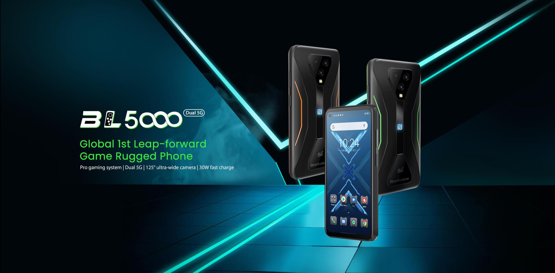 Мировая премьера Blackview BL5000 на AliExpress: 5G-смартфон с защитой IP68, NFC и чипом MediaTek Dimensity 700 дешевле $280