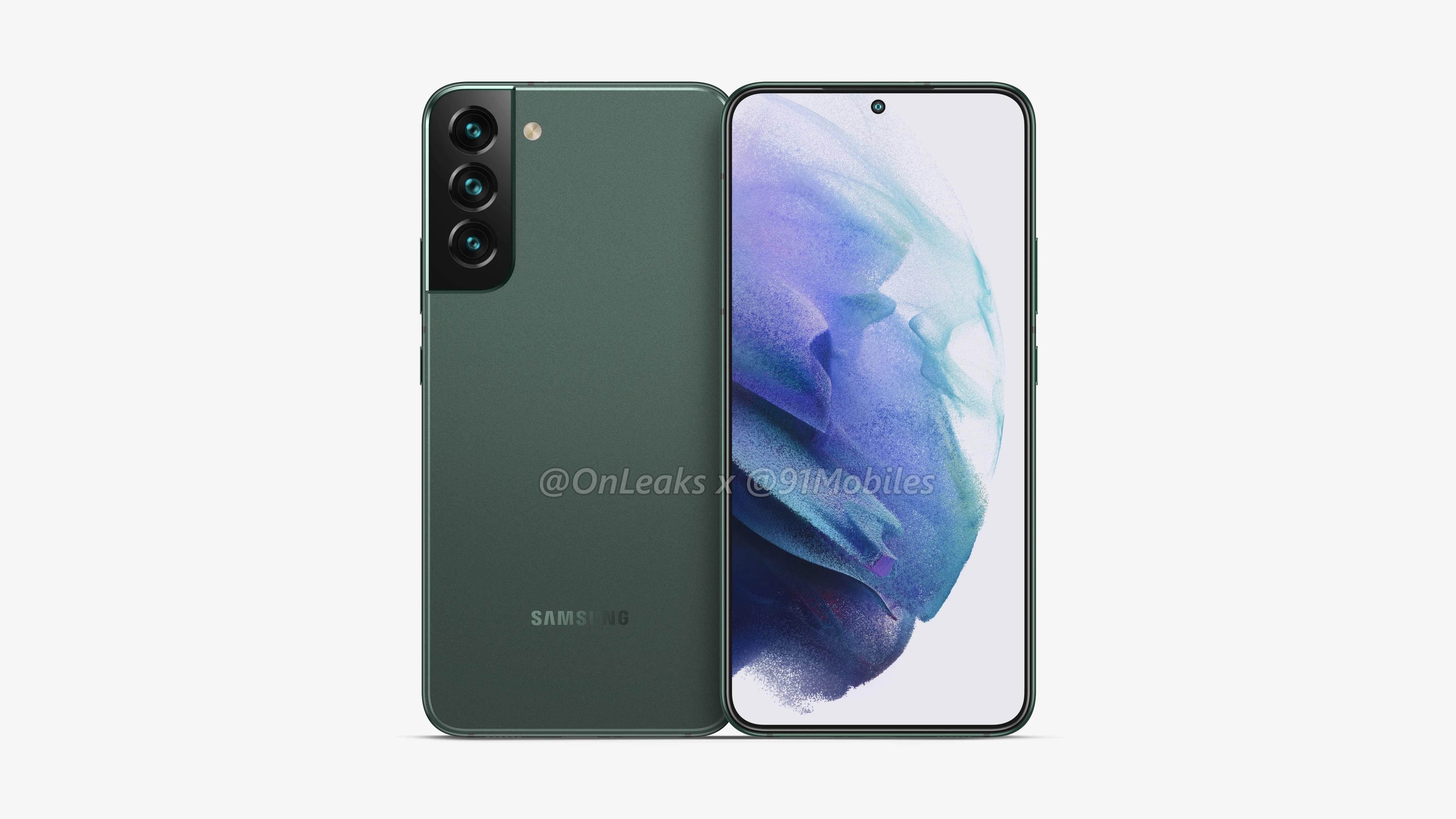 Samsung Galaxy S22 показали на рендерах: дизайн Galaxy S21, тройная камера и дырявый дисплей