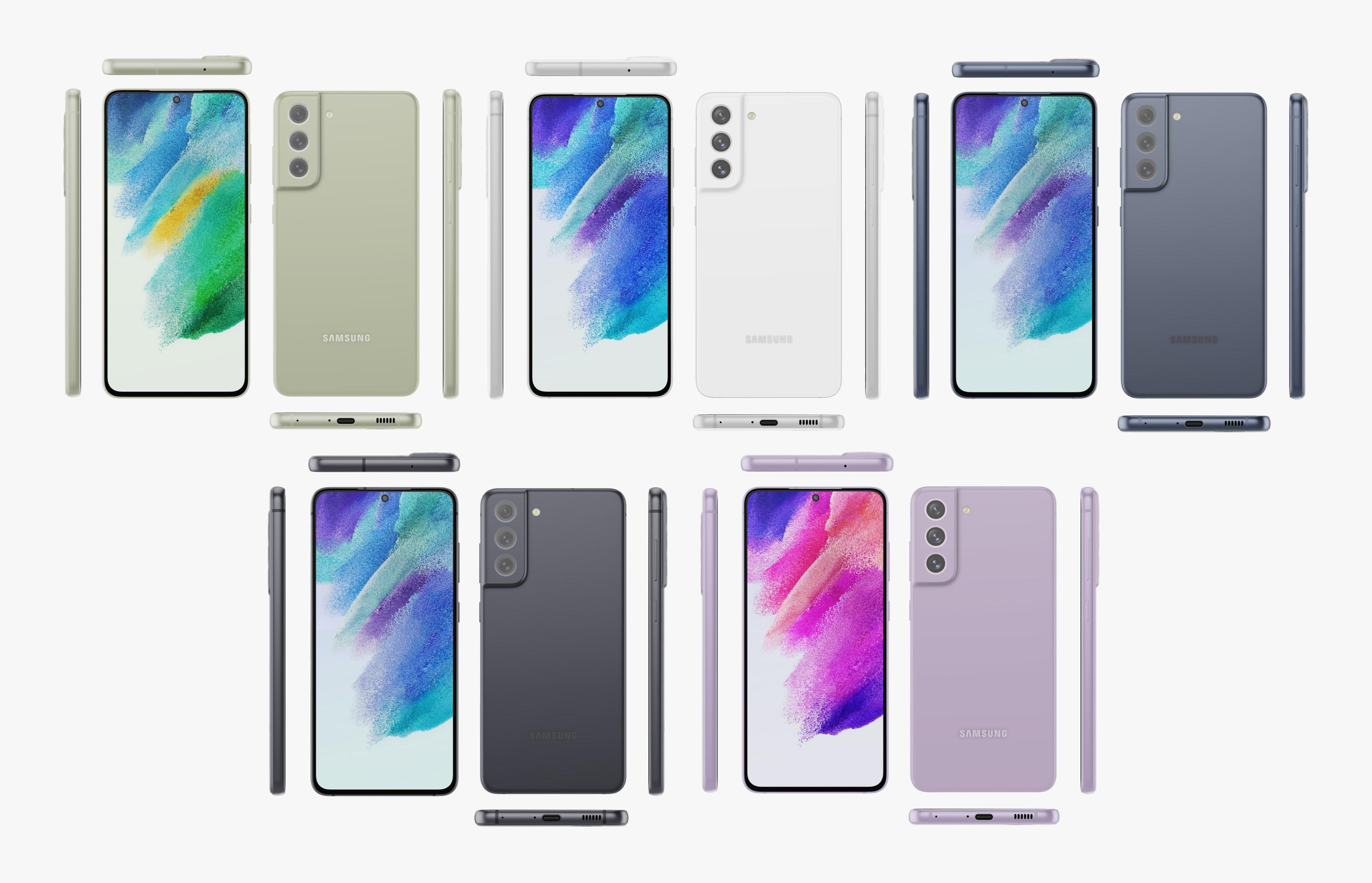 Эван Бласс показал Galaxy S21 FE со всех сторон: дырявый дисплей, камера в стиле Galaxy S21 и пять расцветок