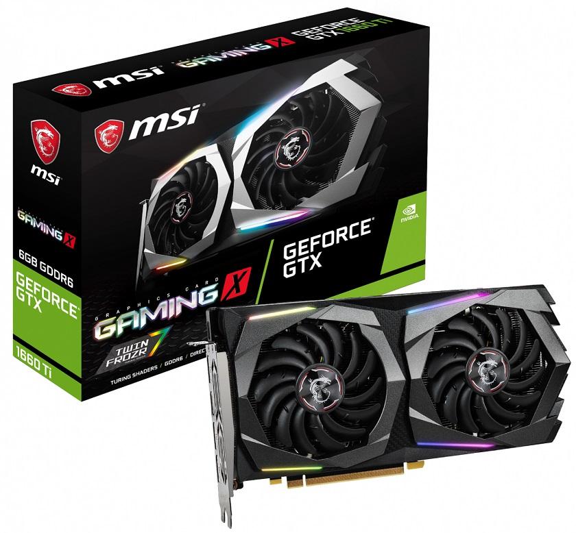 NVIDIA презентовала видеокарту GeForce GTX 1660 Ti