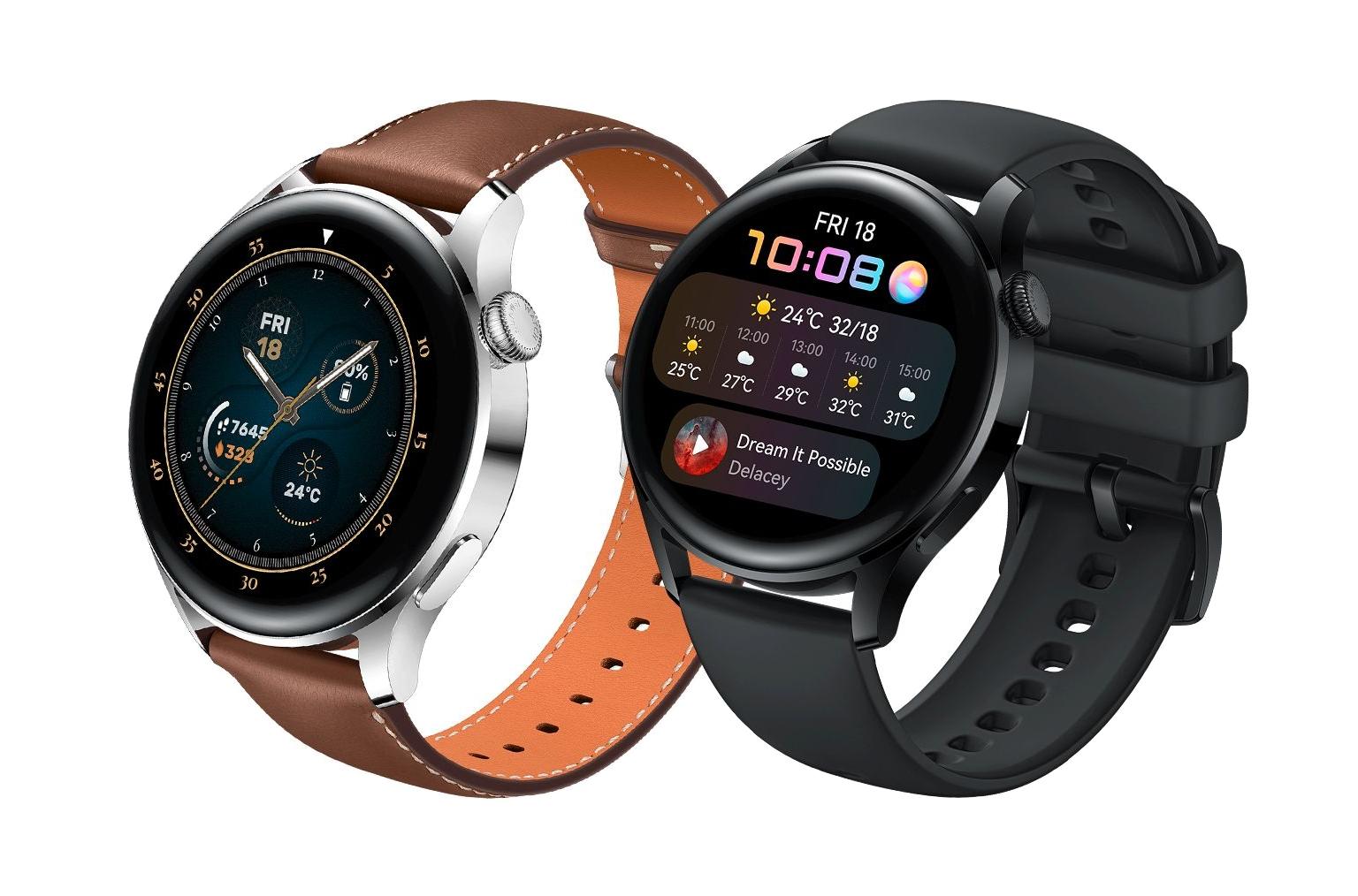 За несколько часов до анонса: в сеть утекли качественные изображения и подробные характеристики смарт-часов Huawei Watch 3