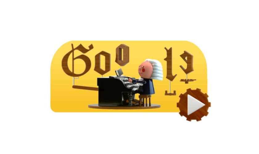 Новый дудл Google превратит пару нот вхорал Баха