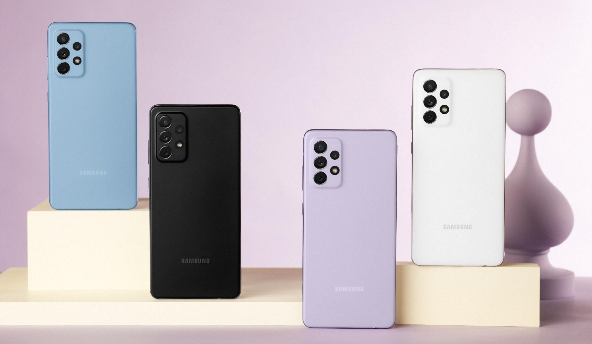 Samsung в новом обновлении для Galaxy A52 и Galaxy A72 улучшила камеры смартфонов