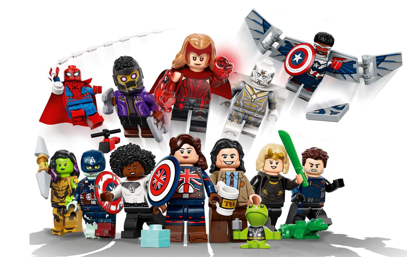 LEGO представила минифигурки героев из сериалов Marvel ВандаВижен, Локи, Сокол и Зимний солдат и Что если