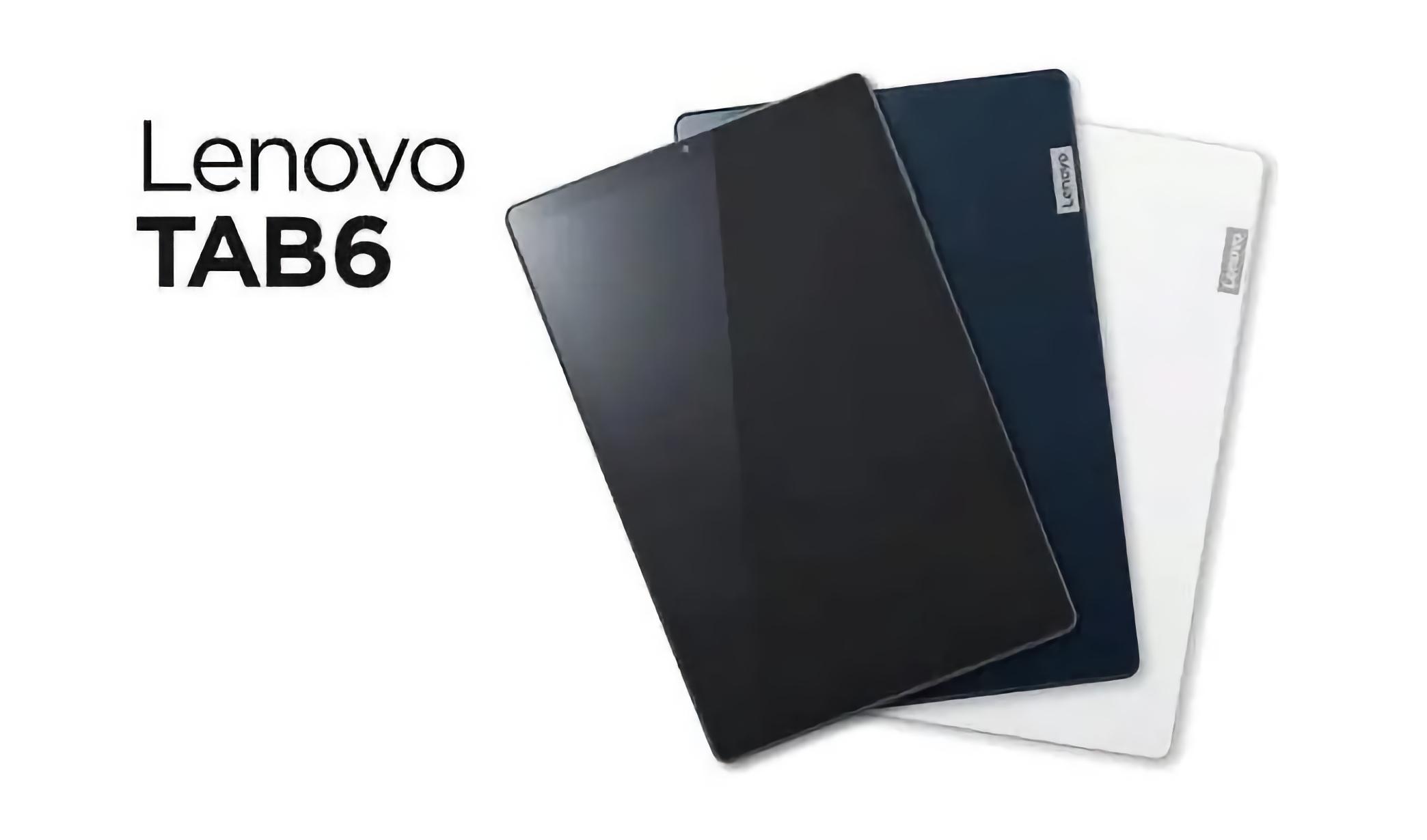 Lenovo TAB 6: планшет с 10.3-дюймовым экраном, процессором Snapdragon 690 и защитой IPX3/IP5X