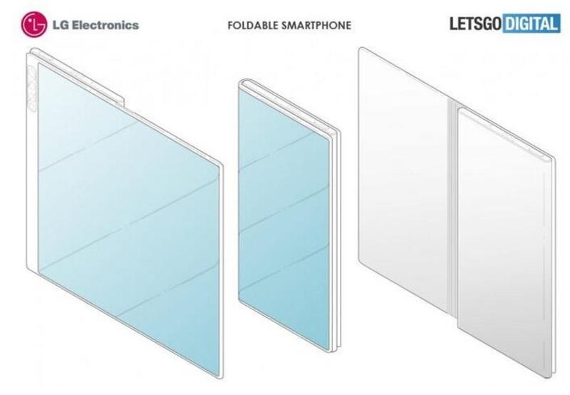 LG запатентовала складной смартфон с тройной камерой