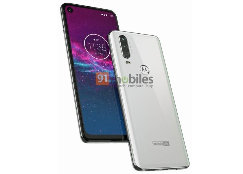 Motorola One Action появилась на пресс-рендере: «дырявый» дисплей и основная камера с тремя модулями