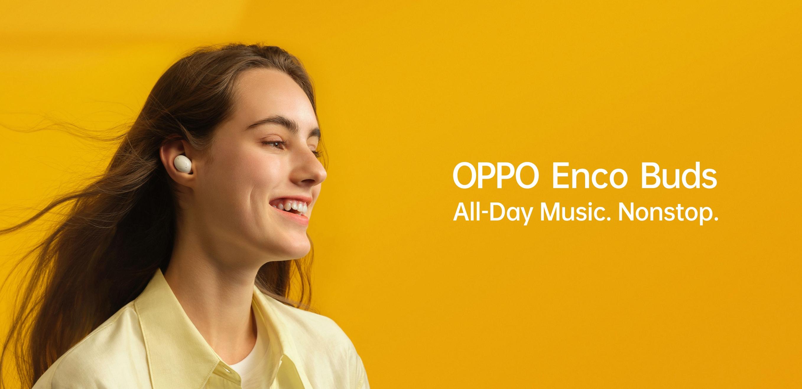 OPPO Enco Buds: TWS-наушники с режимом низкой задержки звука, защитой IP54 и дизайном, как у Galaxy Buds за $32