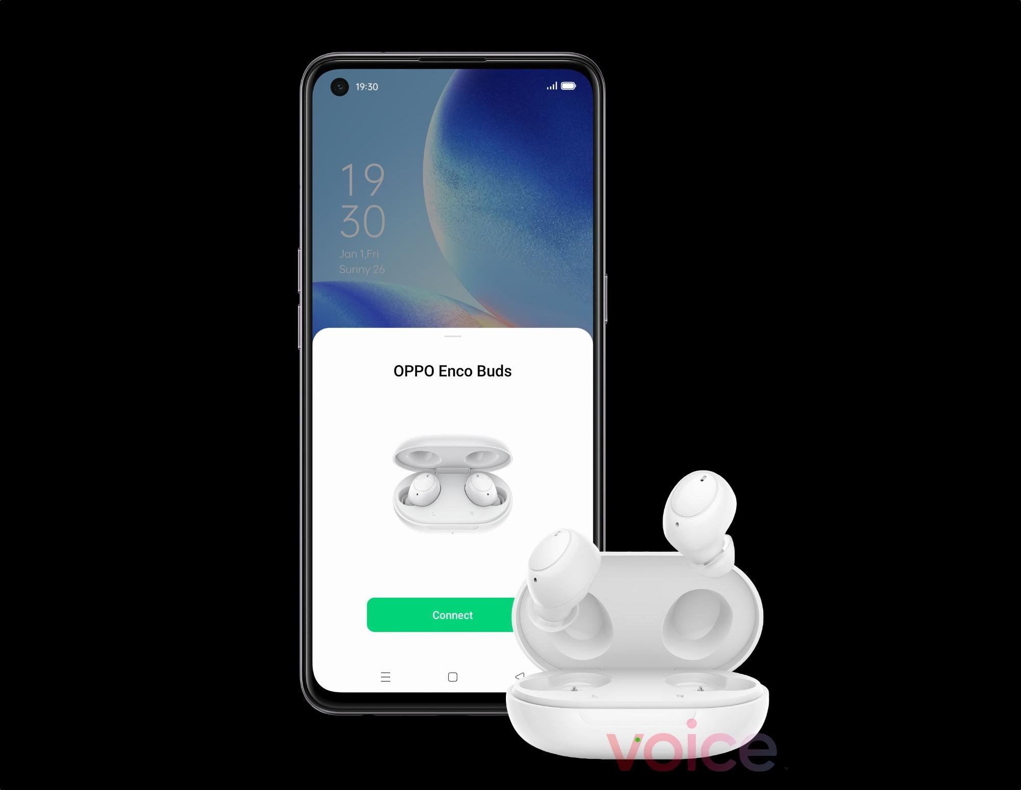 OPPO готовит к выходу Enco Buds: TWS-наушники с дизайном, как у Samsung Galaxy Buds