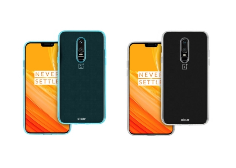 Frameless OnePlus 6 appeared on new renderings in the cases of Olixar