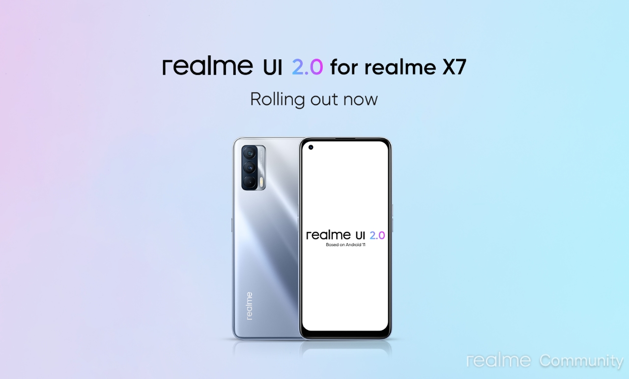Realme X7 начал получать обновление Android 11 с оболочкой Realme UI 2.0