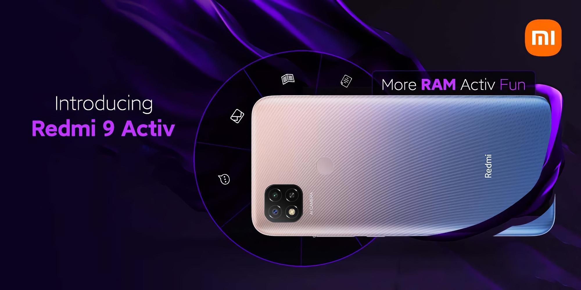 Xiaomi представила Redmi 9 Activ с чипом MediaTek Helio G35 и батареей на 5000 мАч за $130